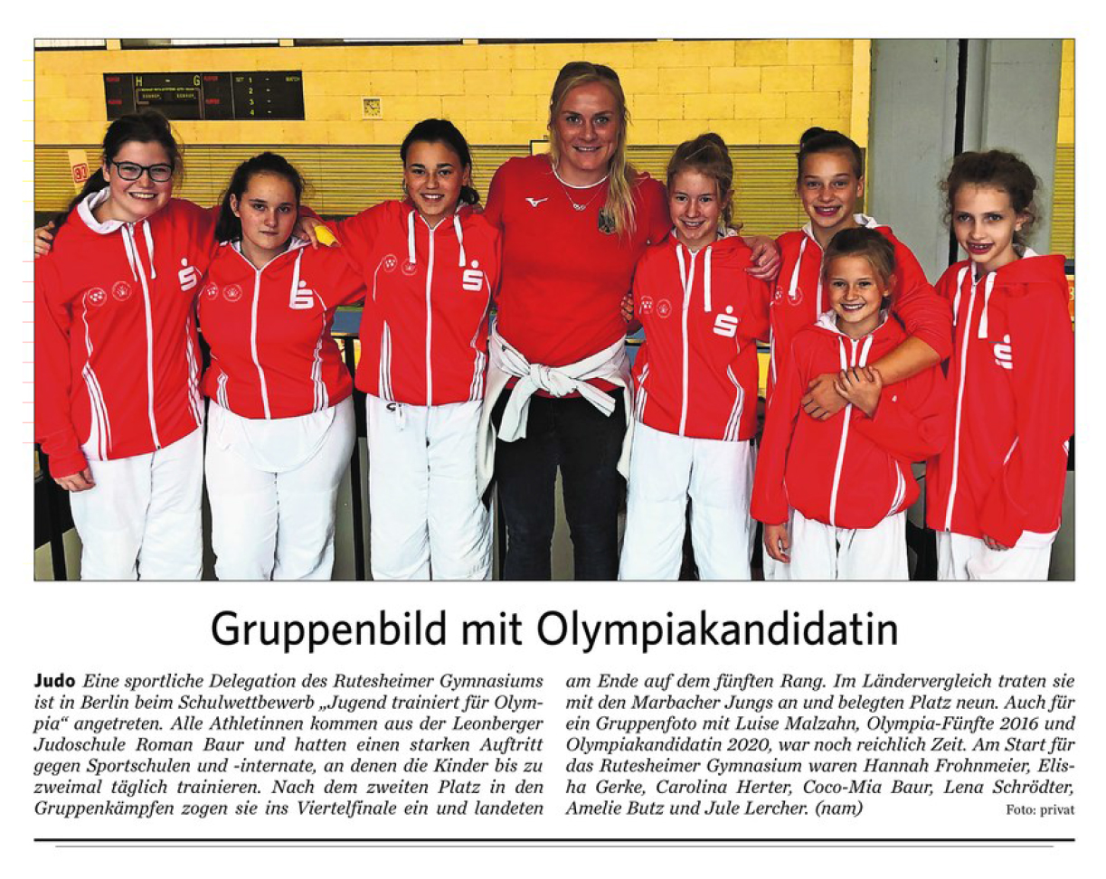 2019 10 07 Gruppenbild mit Olympiakandidaten Ausschnitt